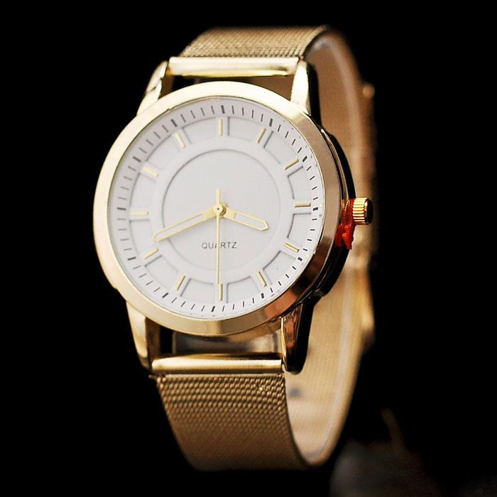 b1 ware damenuhr gold weiss damen armbanduhr uhr analog. Black Bedroom Furniture Sets. Home Design Ideas